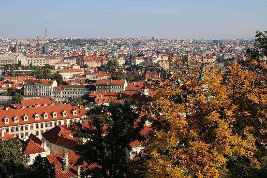 widok z Hradczan Praga