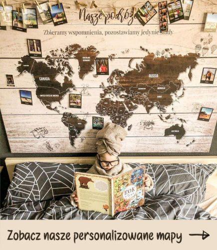 mapa świata z pinezkami