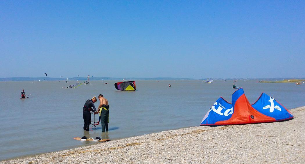 Austria latem kitesurfing windsurfing