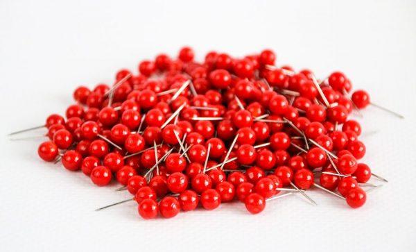 pinezki kuleczki czerwone