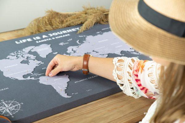 personalizowana mapa dla podróżnika
