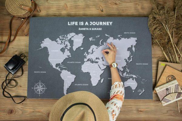 mapa świata dla podróżnika