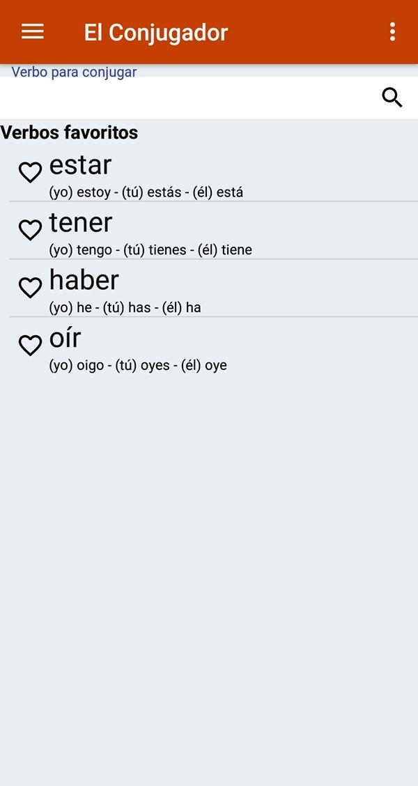 hiszpański aplikacja odmiana czasowników