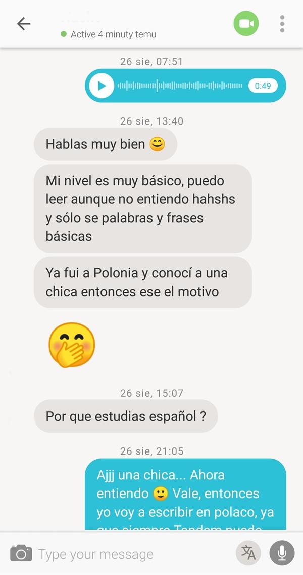 aplikacja do rozmawiania z hiszpanami